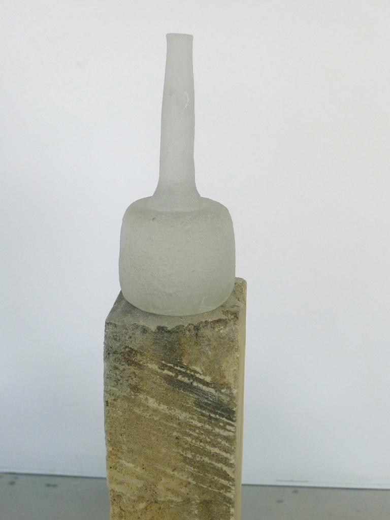 Moss Morandi (detail), 2014, stone & glass