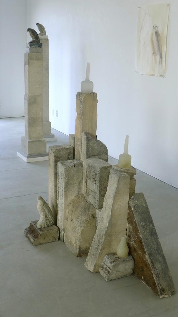 Moss Morandi, 2014,  stone & glass