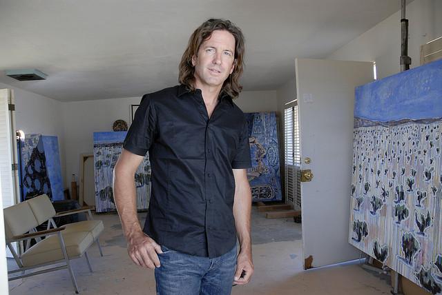 Thom Merrick in his studio